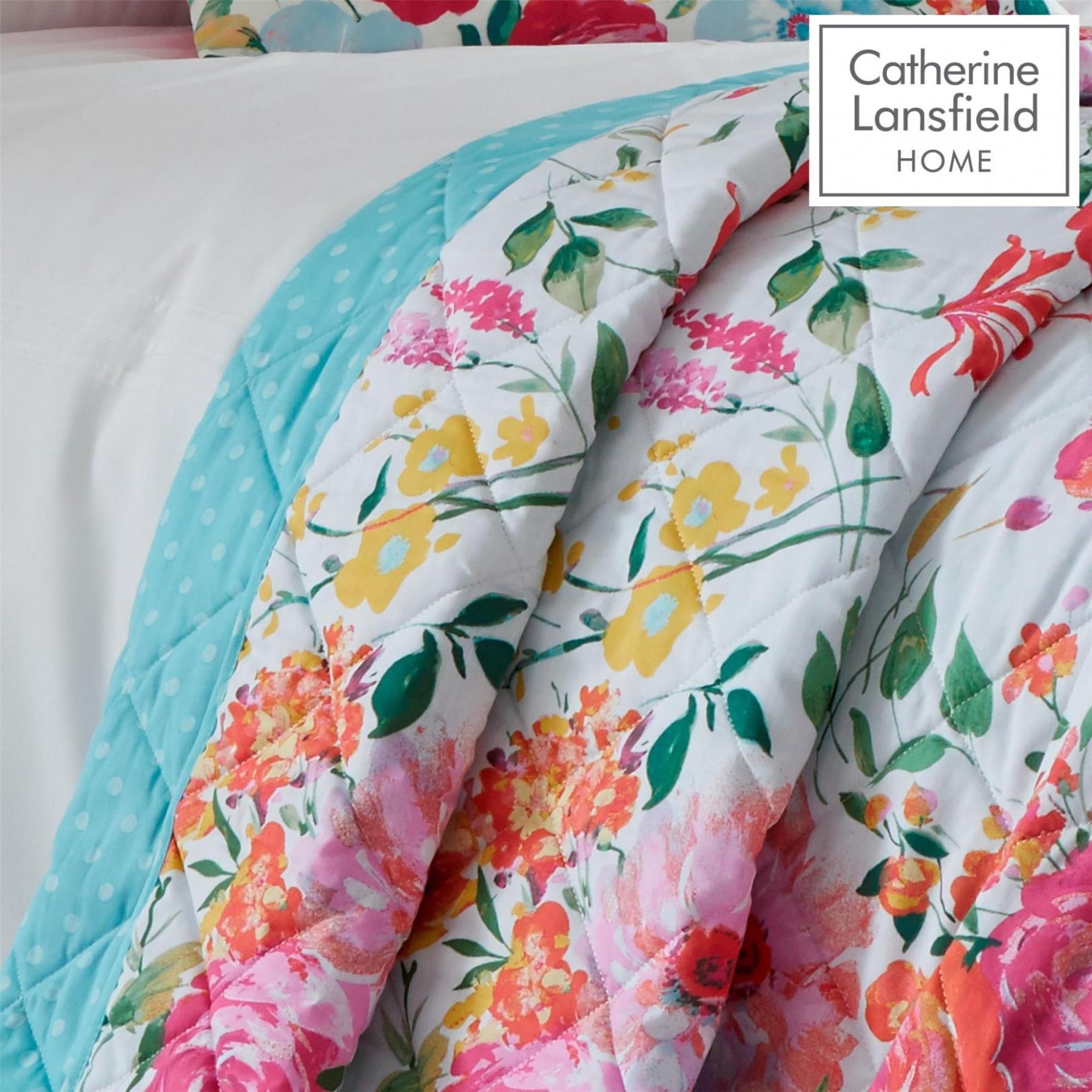 Catherine-Lansfield-biancheria-da-letto-Salisbury-Copripiumino-Set-Tende-Cuscino-Copriletto miniatura 4