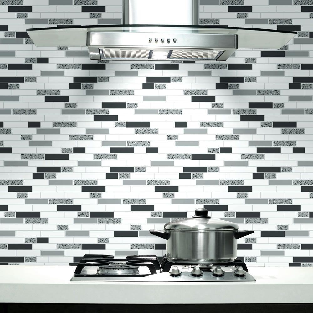 Oblong-Stone-Tile-Kitchen-Bathroom-Wallpaper-Vinyl-Silver-Glitter-Holden-Decor thumbnail 8