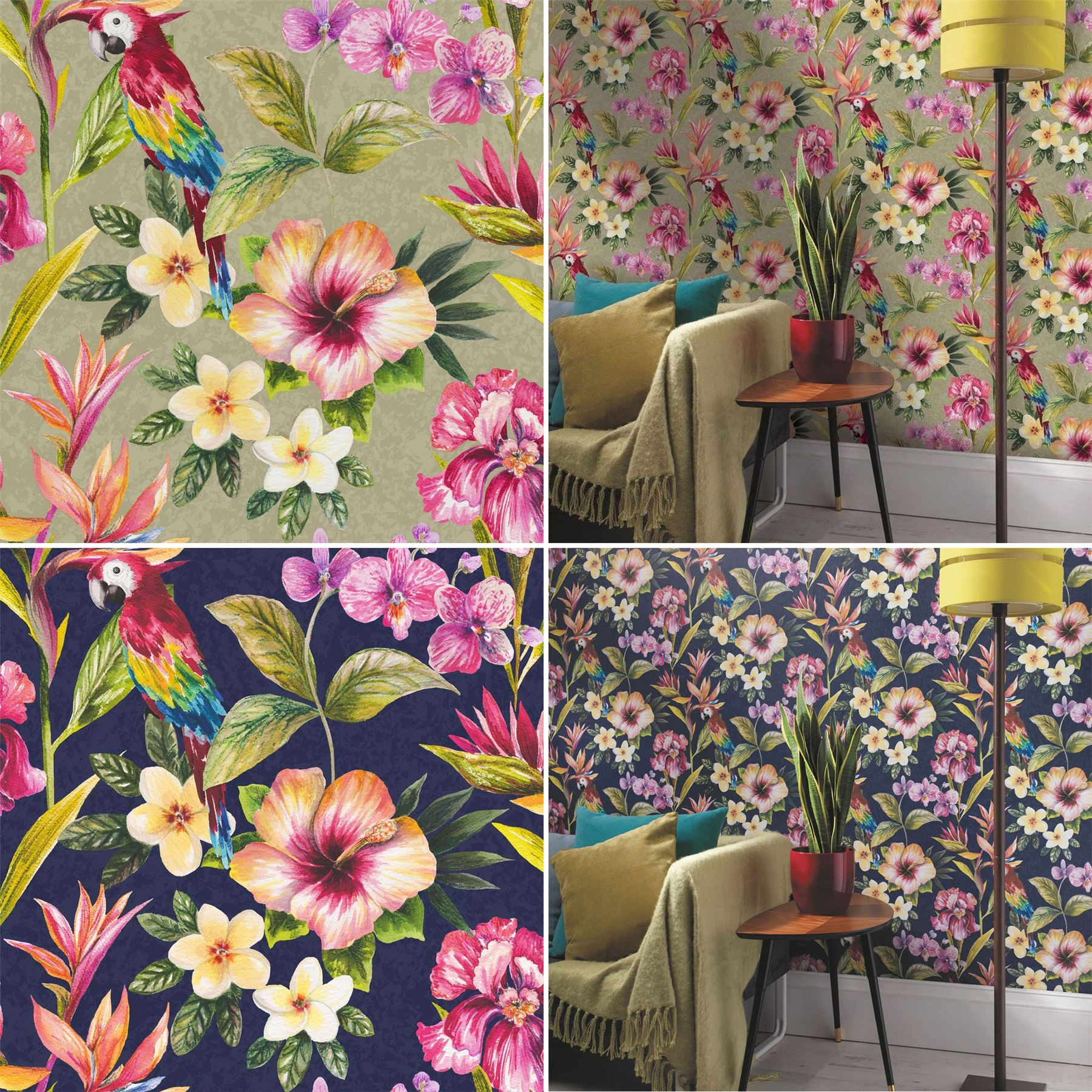 Tropical Exotic Wallpaper Bird Of Paradise Flowers Floral Holden