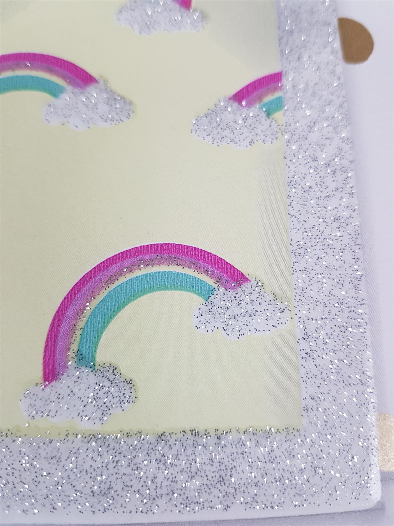 Girls-Unicorn-Wallpaper-Children-039-s-Pink-White-Glitter-Rainbow-Butterflies-Floral thumbnail 34