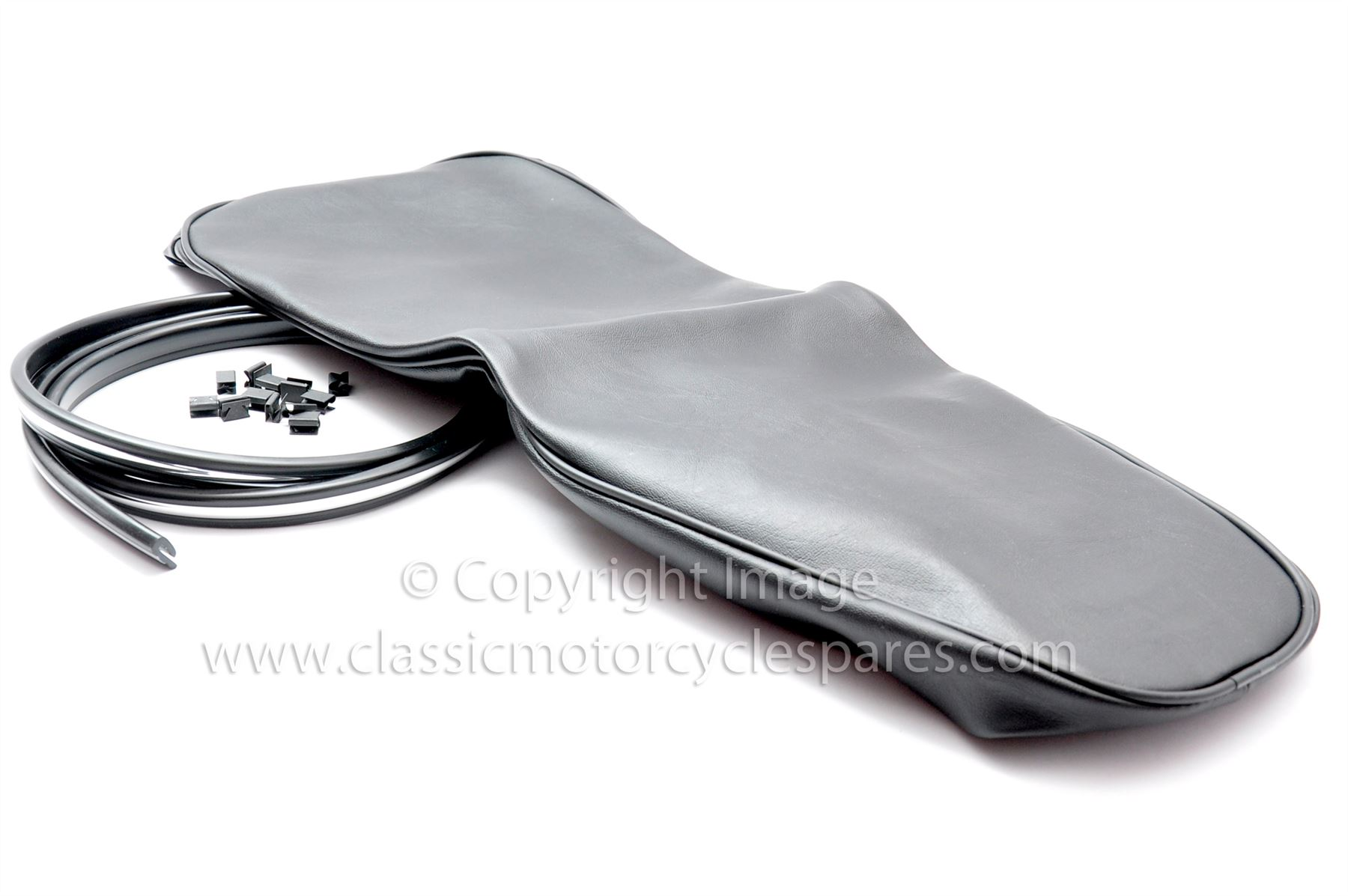 B40 Black Piping WD UK Made Black BSA C15 Great Quality Seat Cover