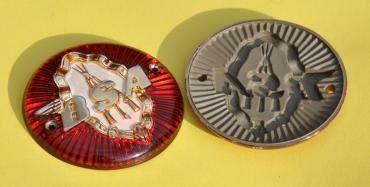 BSA Tank Badges with Logo//Piled Arms 65-8220 B31 A7 A10 Etc