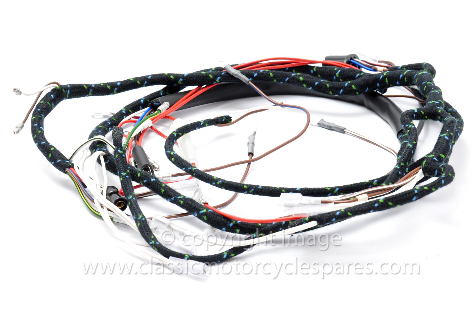 Details about Wiring Harness, Triumph T90 T100 TR6 T120, 1966, 12 volt, on mgb wiring harness, tr3 wiring harness, tr6 engine,