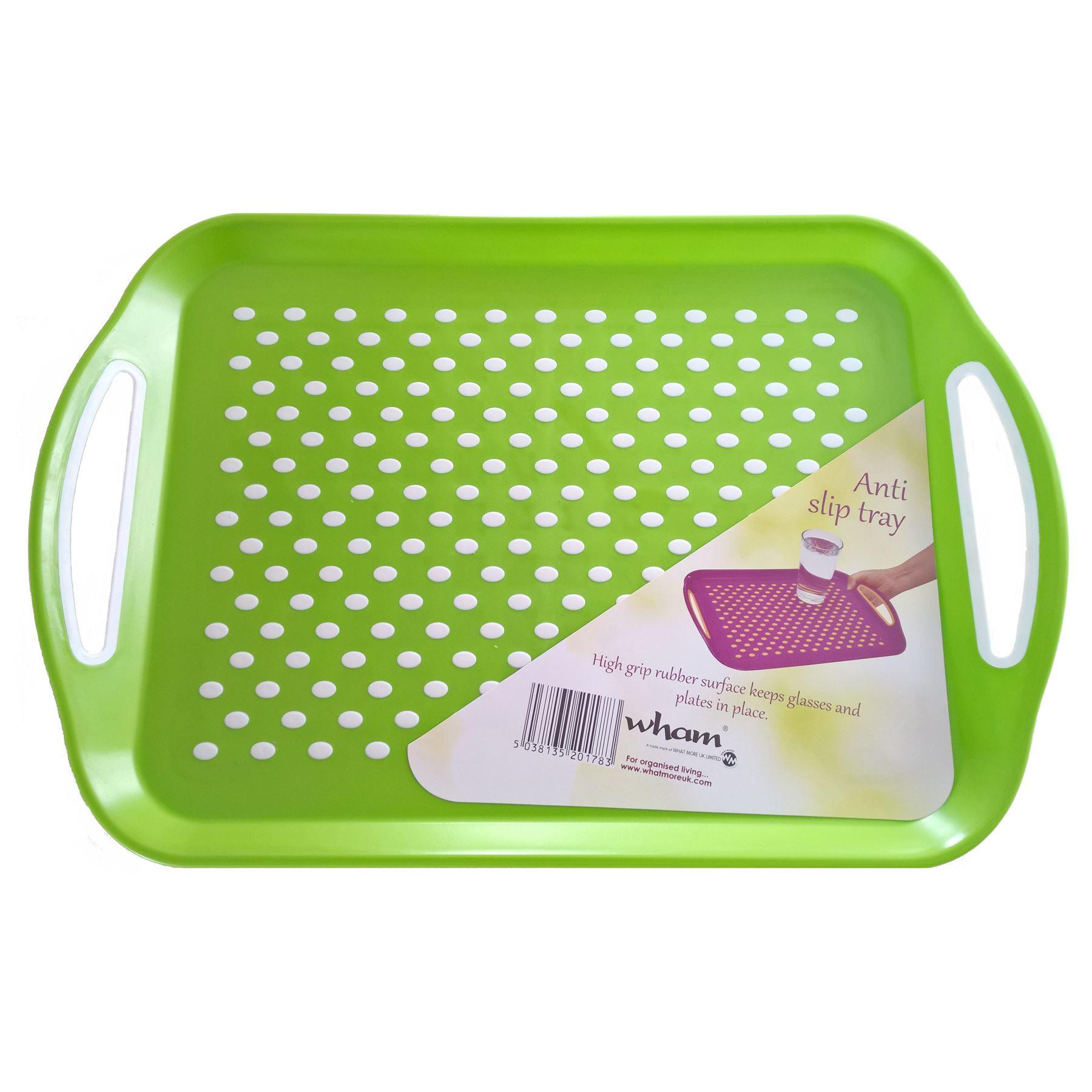 WHAM-Anti-Slip-Plastic-Serving-Tray-Rectangle-High-  sc 1 st  eBay & WHAM Anti Slip Plastic Serving Tray Rectangle High Grip Rubber ...
