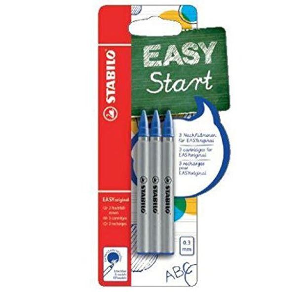 Stabilo-EASY-Original-Rollerball-Pen-0-3mm-Azul-Recargas-Paquete-de-3-6-9 miniatura 3