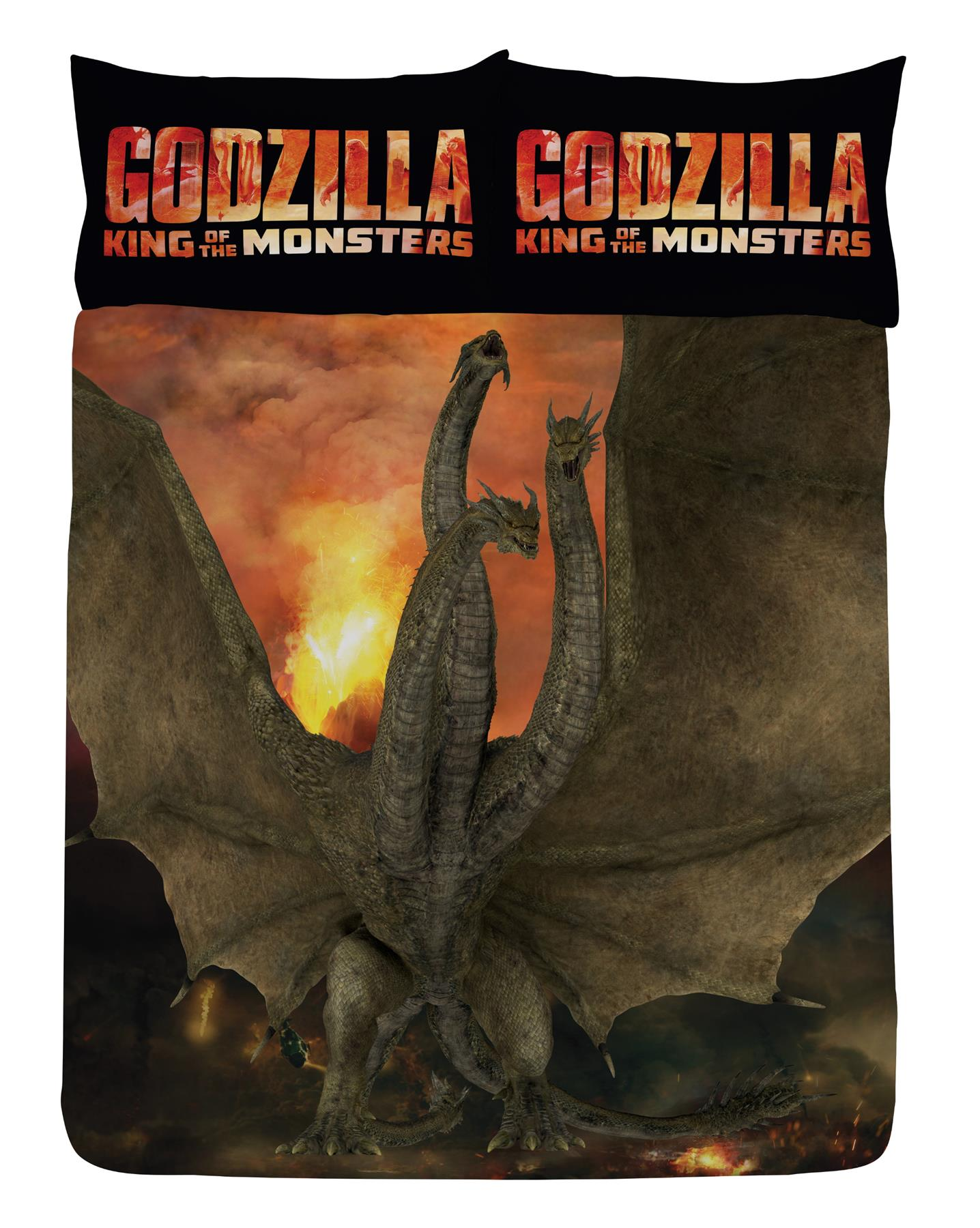 Godzilla-King-of-Monsters-Single-Double-Duvet-Cover-Reversible-Bedding-Set thumbnail 5