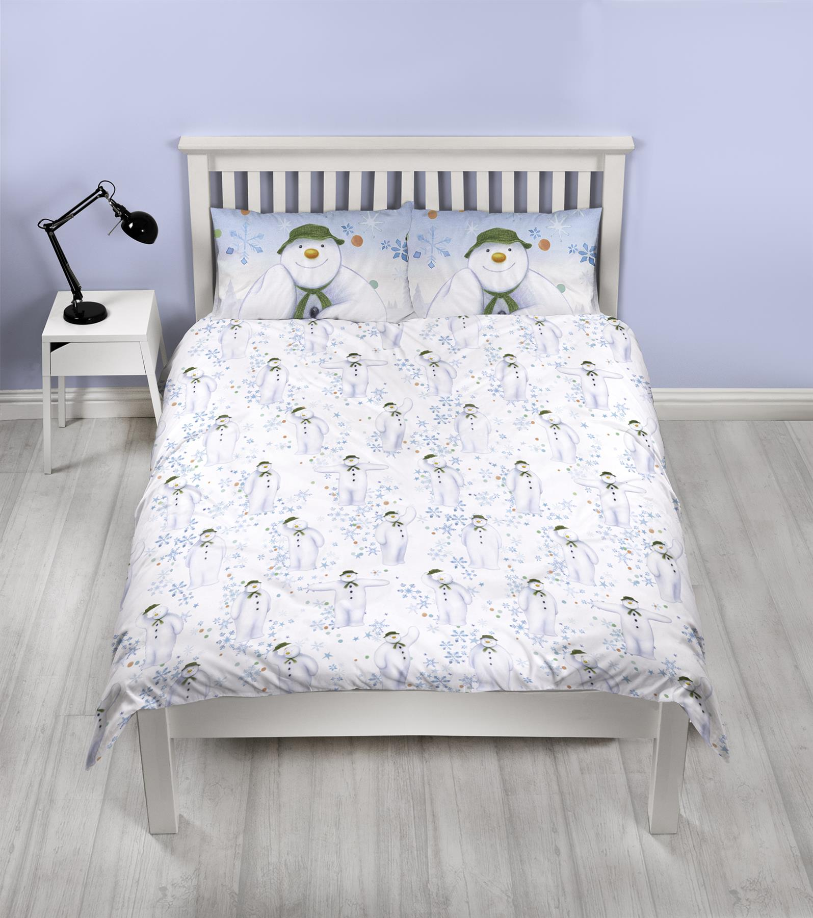 Official-The-Snowman-Duvet-Cover-Single-Double-Reversible-Bedding-Fleece-Blanket thumbnail 12