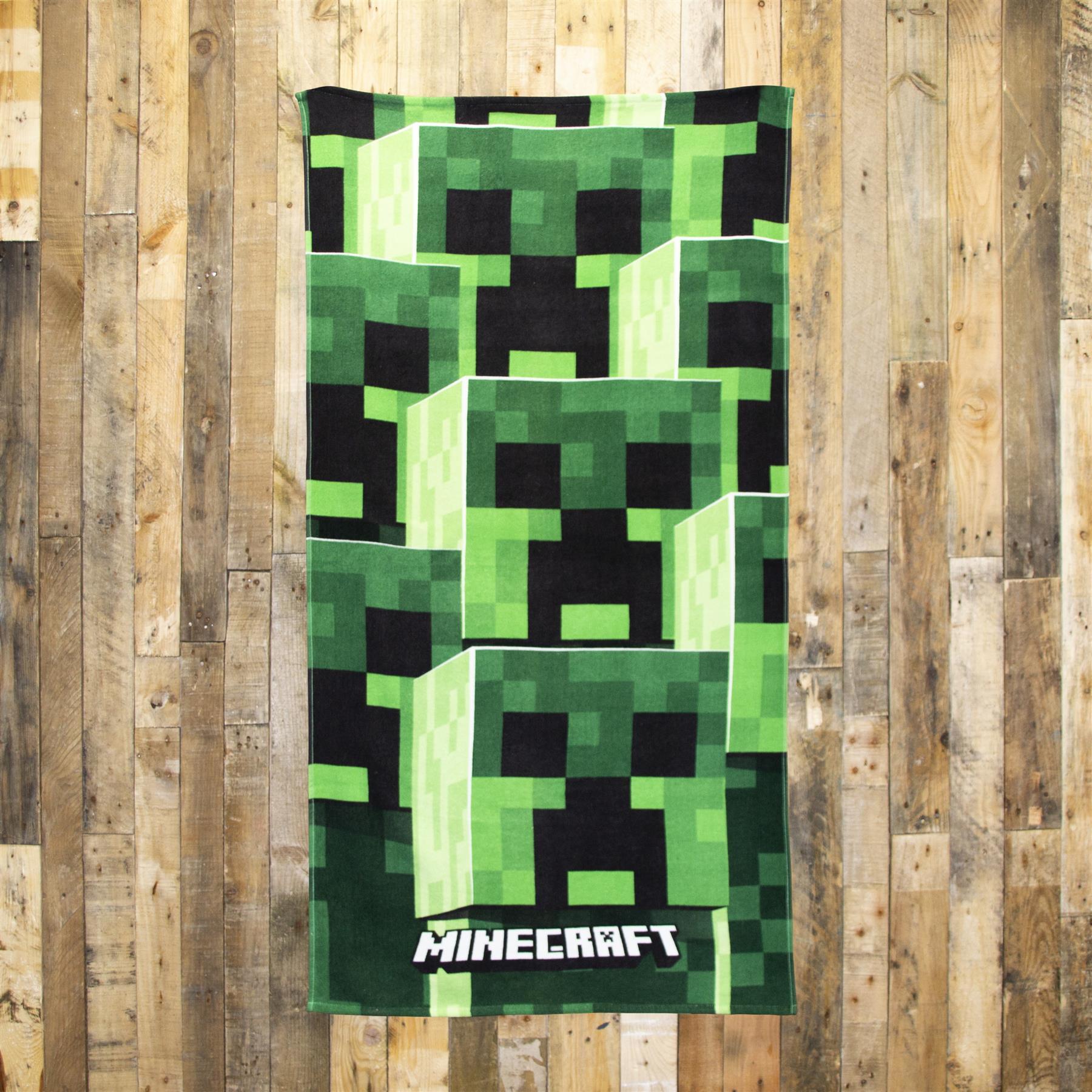 miniatura 7 - Minecraft Biancheria da letto Creeper PIUMONI Asciugamano Cuscino Coperta-venduta separatamente