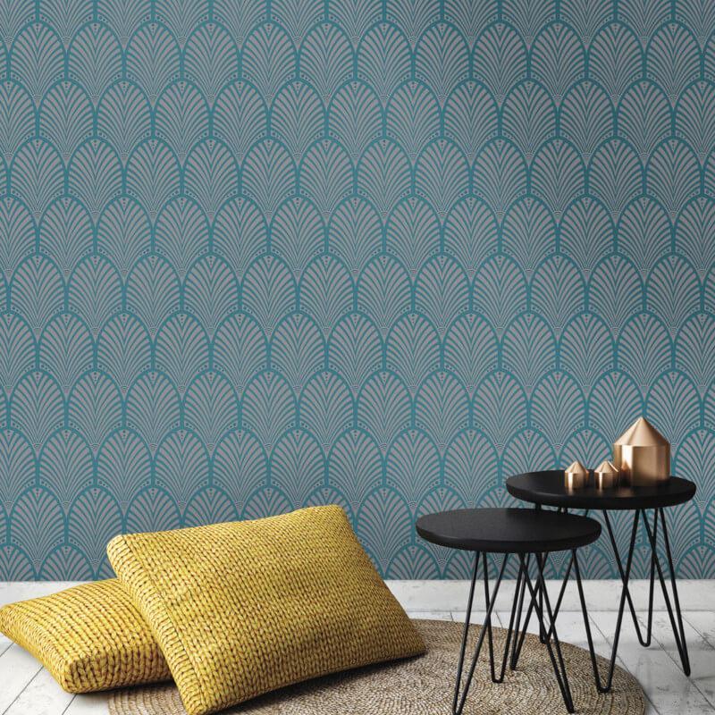 Geometric-Wallpaper-Metallic-Smooth-Textured-Apex-Triangles-Trellis-Diamonds thumbnail 23