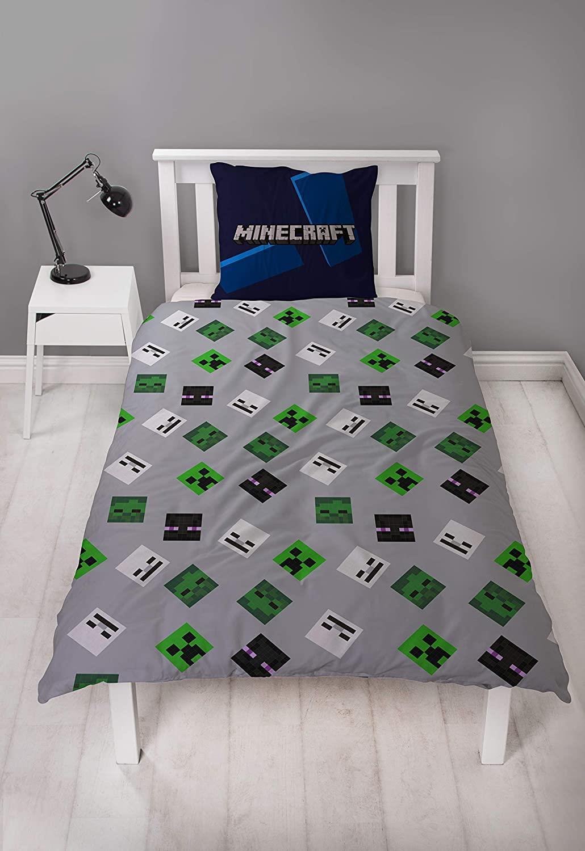 miniatura 28 - Minecraft Biancheria da letto Creeper PIUMONI Asciugamano Cuscino Coperta-venduta separatamente