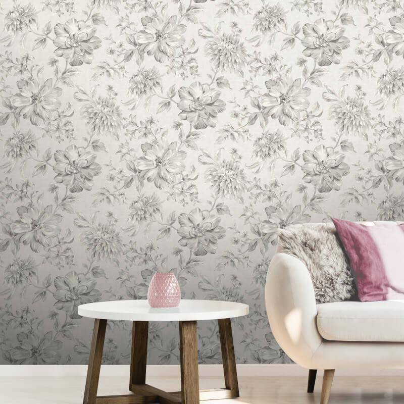 Fine-Decor-Lucia-Floral-Metallic-Effect-10m-Wallpaper-4-Colours thumbnail 5