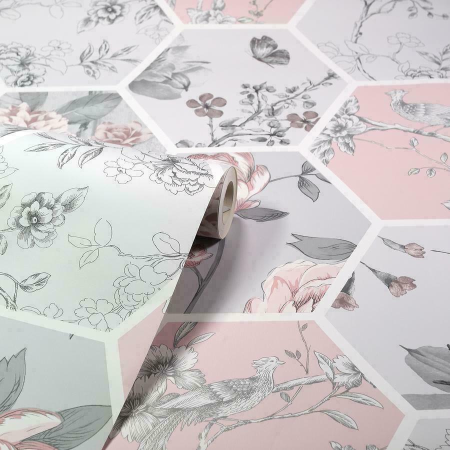 Arthouse-Chinoise-Decoupage-Birds-Floral-Patchwork-Wallpaper-10m-Rolls thumbnail 9