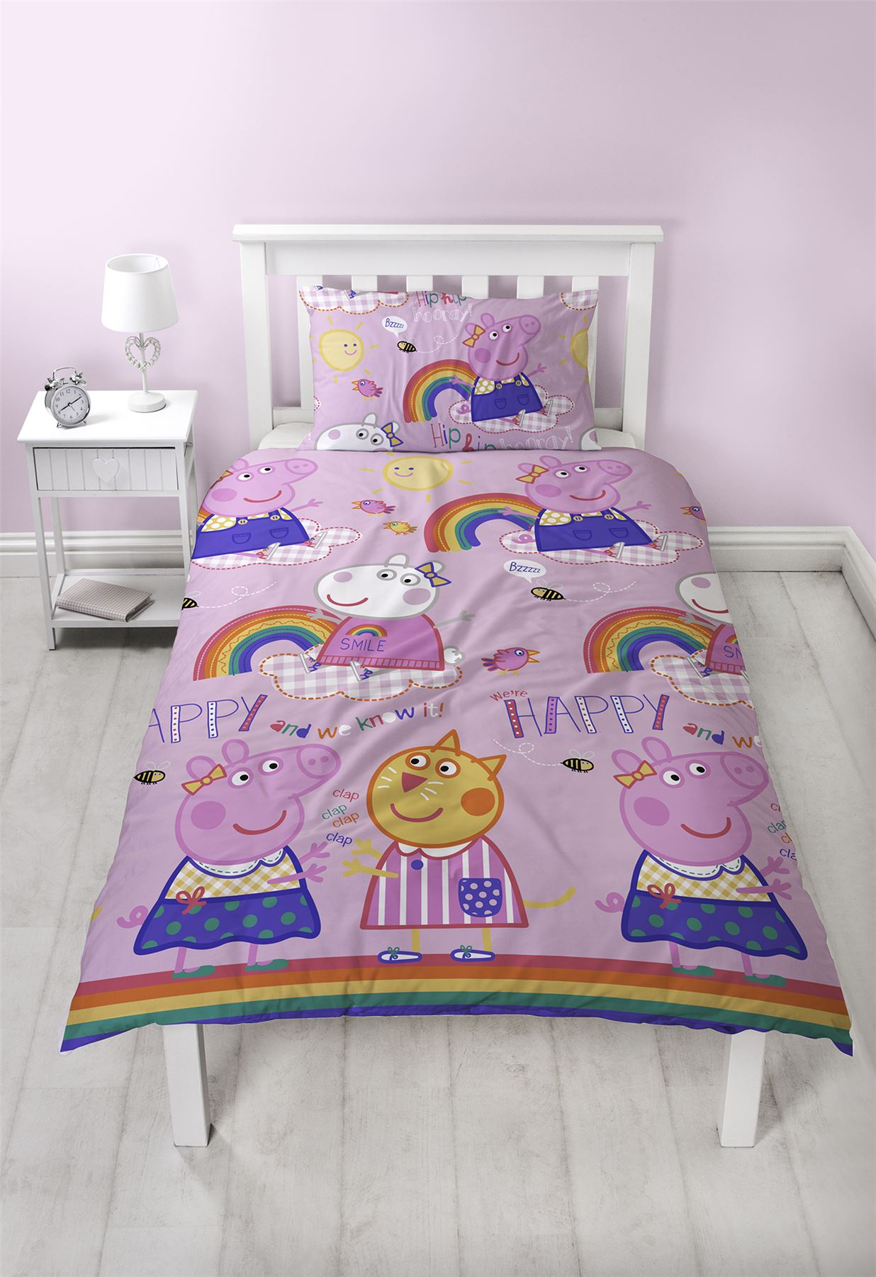 Oficial-Peppa-Pig-George-fundas-nordicas-SINGLE-doble-Ropa-De-Cama-Reversible miniatura 11
