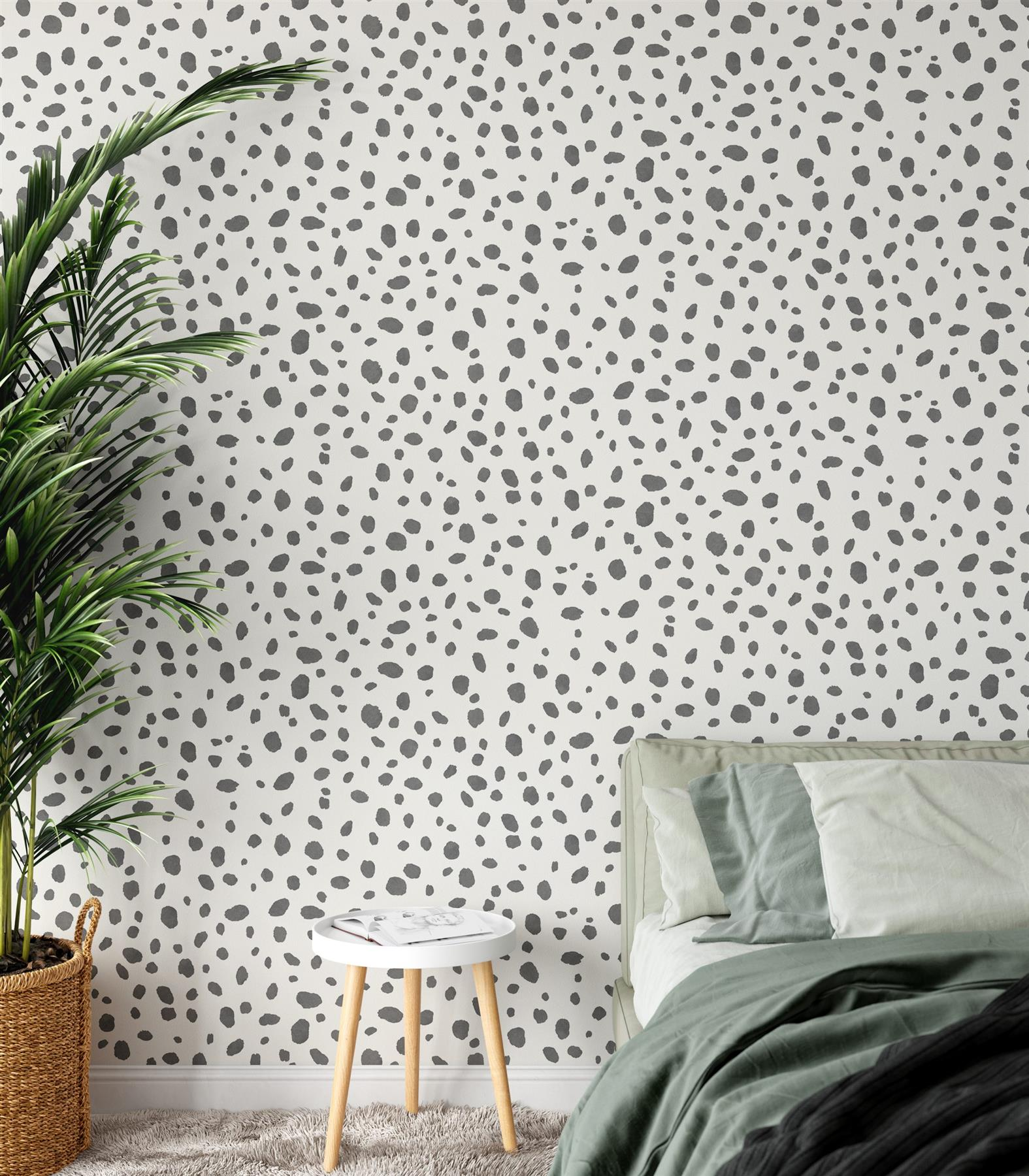 Holden-Decor-Dalmatian-Spot-Print-Trendy-Contemporary-Wallpaper-2-Colours thumbnail 3