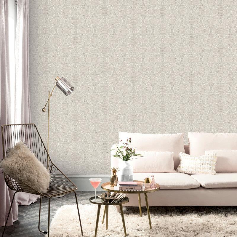 Arthouse-Calico-Range-Trellis-Floral-Dot-Stripe-amp-Plain-Textured-Wallpaper thumbnail 9