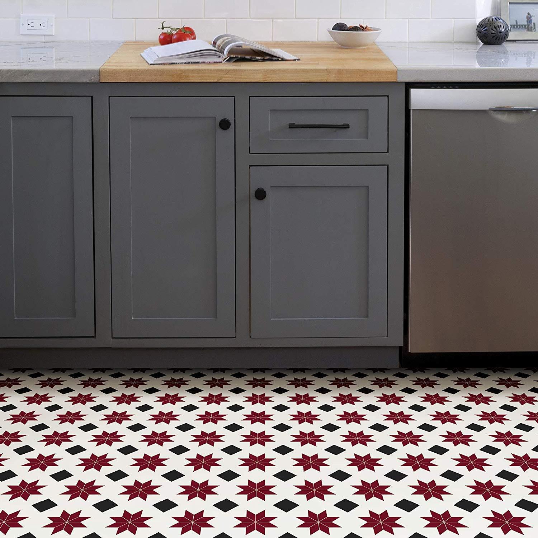 WallPops-Bathroom-Kitchen-Peel-amp-Stick-Floor-Tiles-Vinyl-10pk-12-034-x-12-034 thumbnail 27