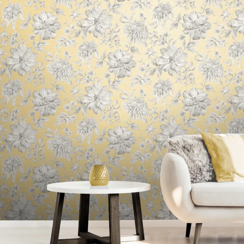 Fine-Decor-Lucia-Floral-Metallic-Effect-10m-Wallpaper-4-Colours thumbnail 9