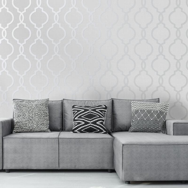 Geometric-Wallpaper-Metallic-Smooth-Textured-Apex-Triangles-Trellis-Diamonds thumbnail 68