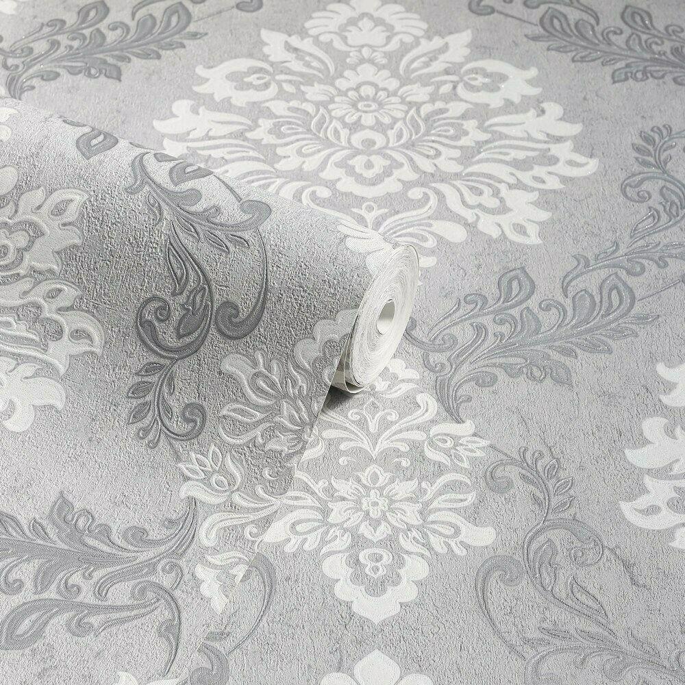 thumbnail 11 - Arthouse Palazzo Range Damask & Stripe Glitter Textured Wallpaper 10m Rolls