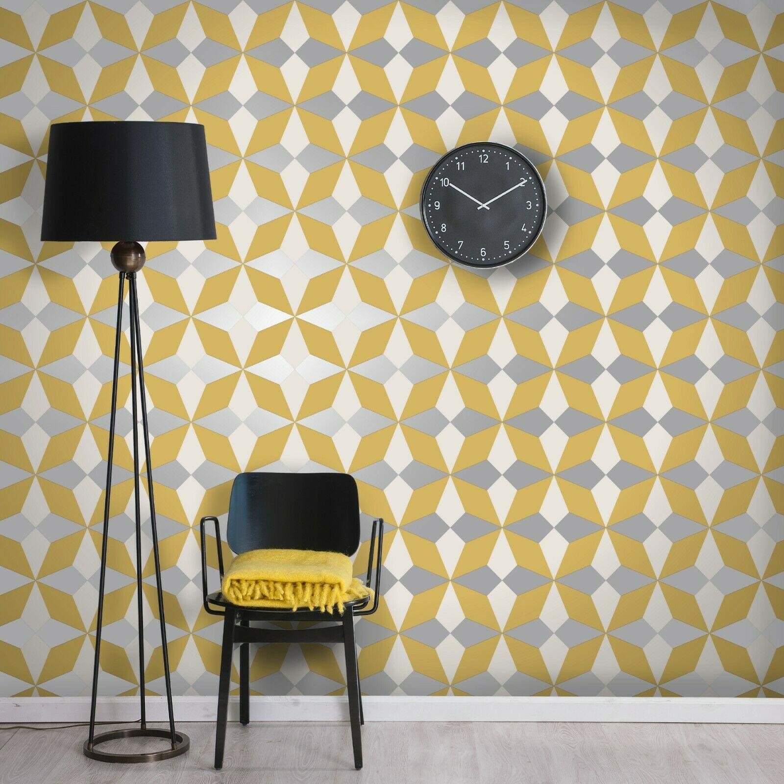 Geometric-Wallpaper-Metallic-Smooth-Textured-Apex-Triangles-Trellis-Diamonds thumbnail 59