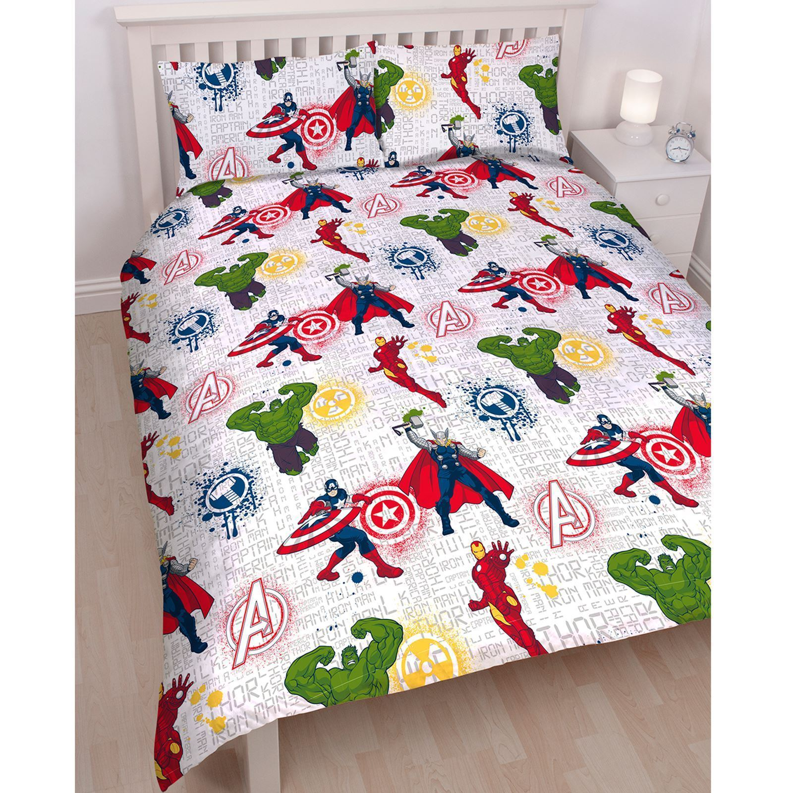 Official-Marvel-Comics-Avengers-Licensed-Duvet-Covers-Single-Double thumbnail 8