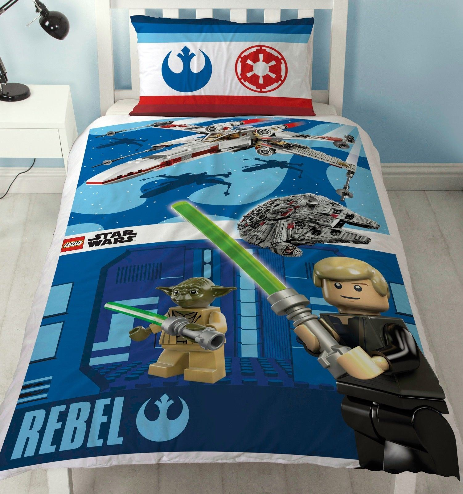Official-Star-Wars-Licensed-Duvet-Covers-Single-Double-Jedi-Darth-Vader-Lego thumbnail 3