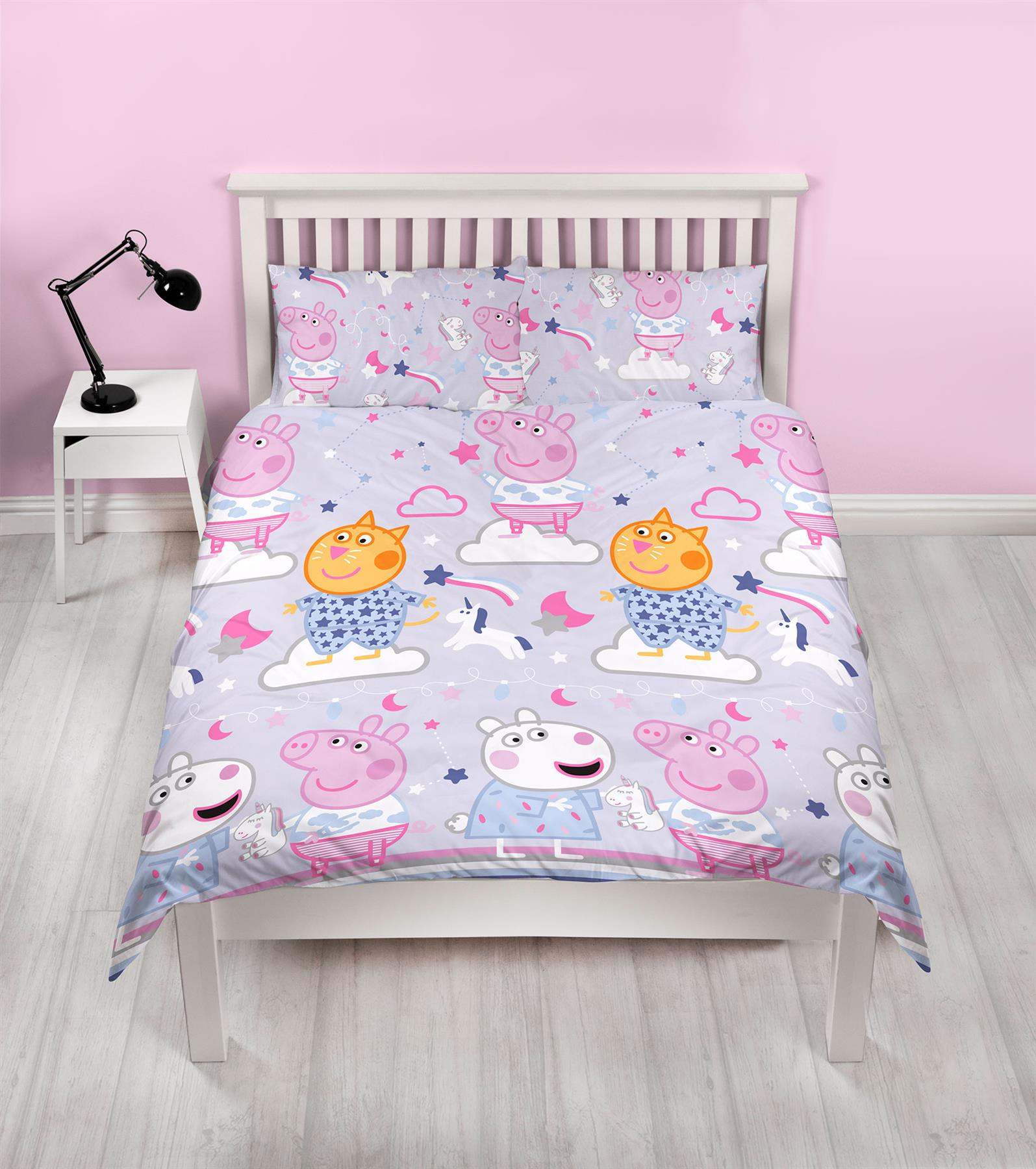 Oficial-Peppa-Pig-George-fundas-nordicas-SINGLE-doble-Ropa-De-Cama-Reversible miniatura 28