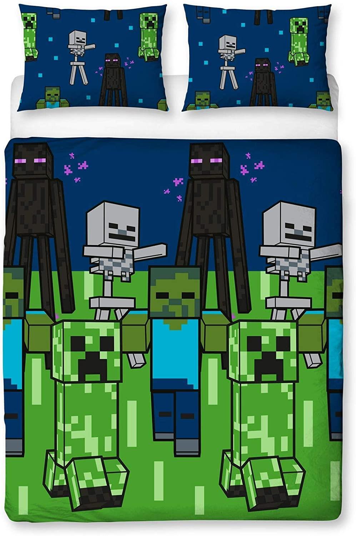 miniatura 25 - Minecraft Biancheria da letto Creeper PIUMONI Asciugamano Cuscino Coperta-venduta separatamente