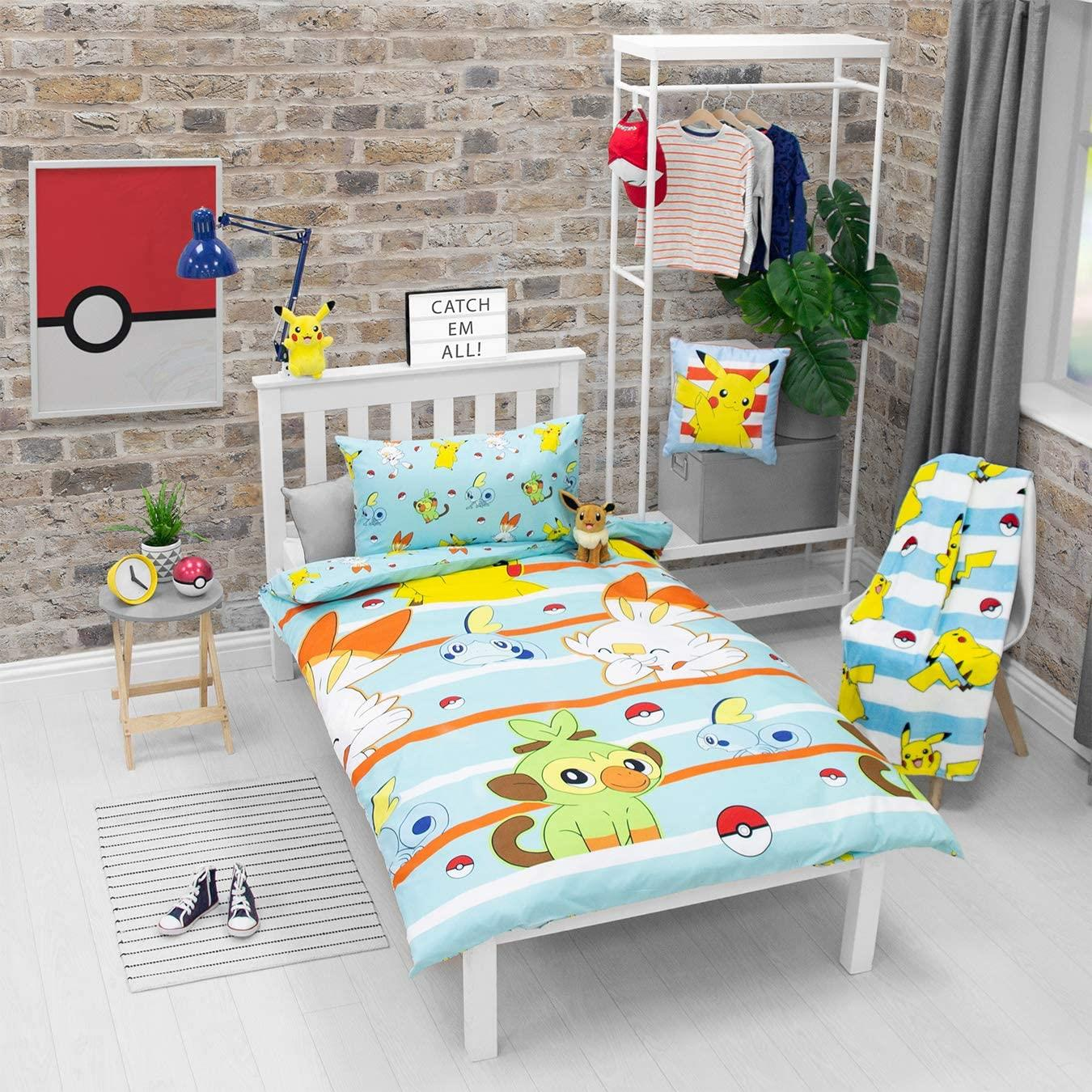 Official-Pokemon-Licensed-Duvet-Covers-Single-Double-Pikachu-Bedding-Gaming thumbnail 17