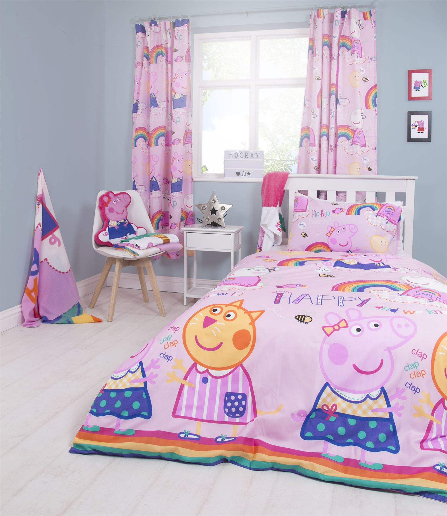 Oficial-Peppa-Pig-George-fundas-nordicas-SINGLE-doble-Ropa-De-Cama-Reversible miniatura 13
