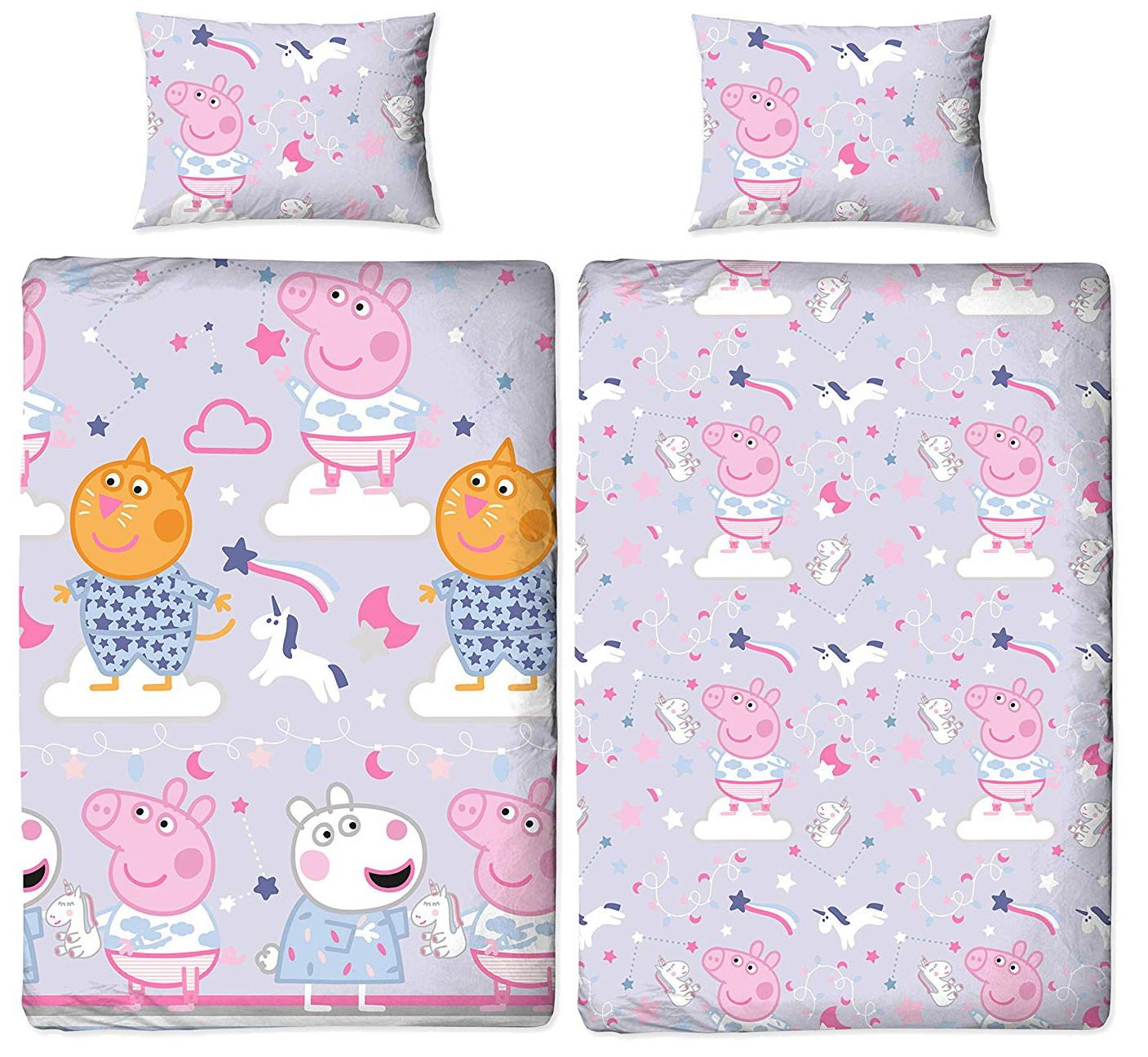 Oficial-Peppa-Pig-George-fundas-nordicas-SINGLE-doble-Ropa-De-Cama-Reversible miniatura 35