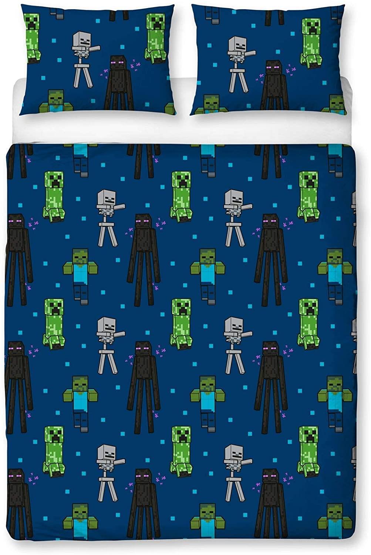 miniatura 24 - Minecraft Biancheria da letto Creeper PIUMONI Asciugamano Cuscino Coperta-venduta separatamente