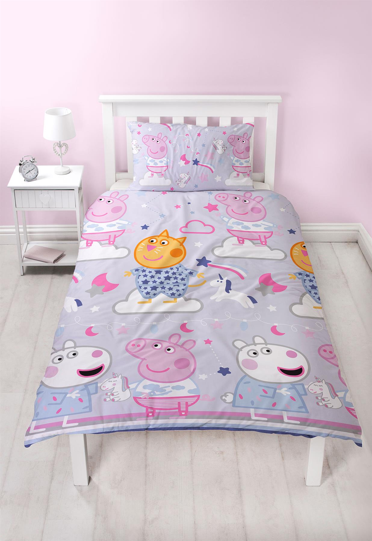 Oficial-Peppa-Pig-George-fundas-nordicas-SINGLE-doble-Ropa-De-Cama-Reversible miniatura 31