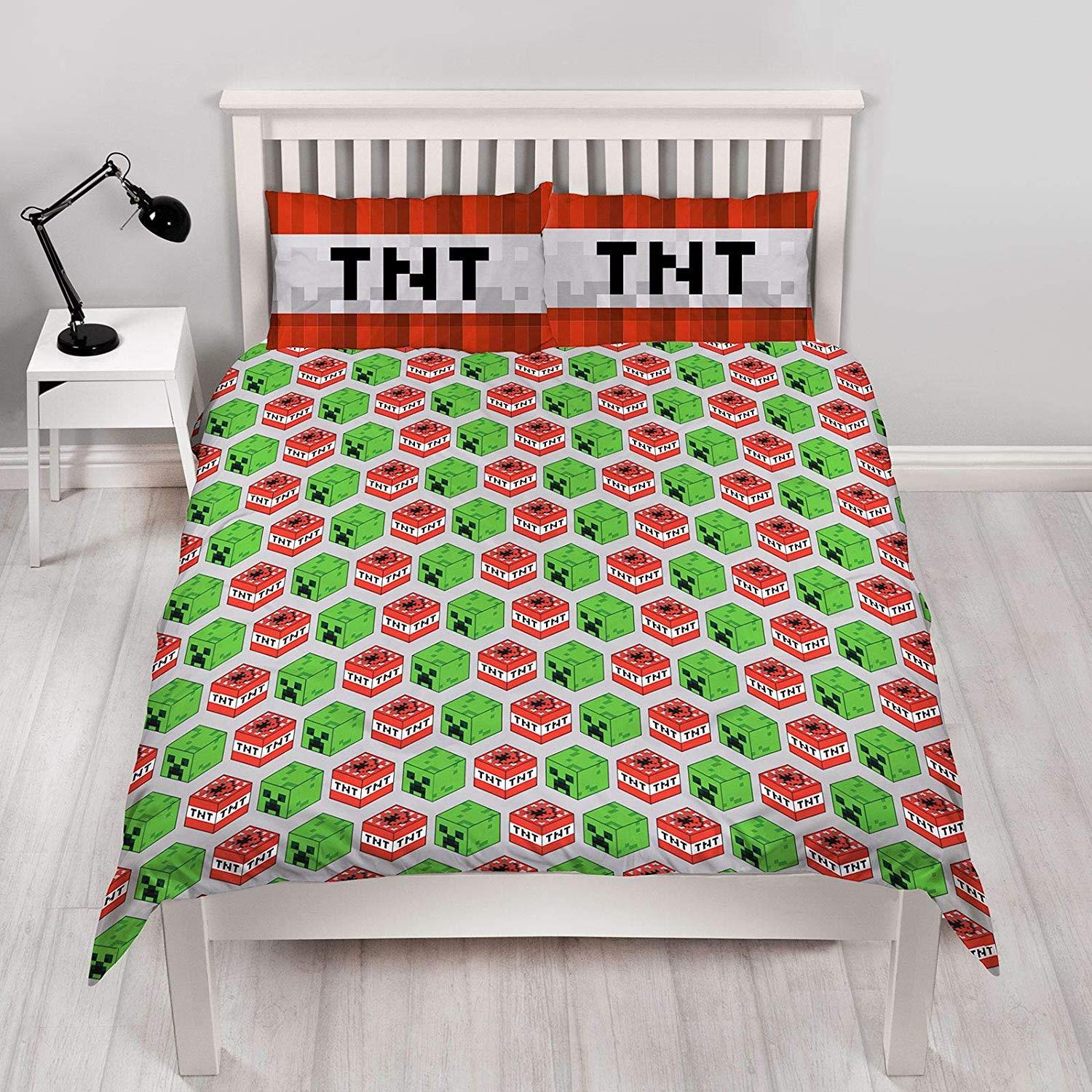 Official-Minecraft-Licensed-Duvet-Covers-Single-Double-Creeper-TNT-Bedding thumbnail 7