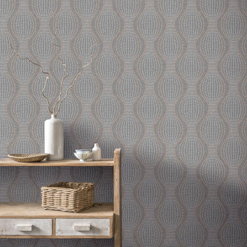 Arthouse-Calico-Range-Trellis-Floral-Dot-Stripe-amp-Plain-Textured-Wallpaper thumbnail 5