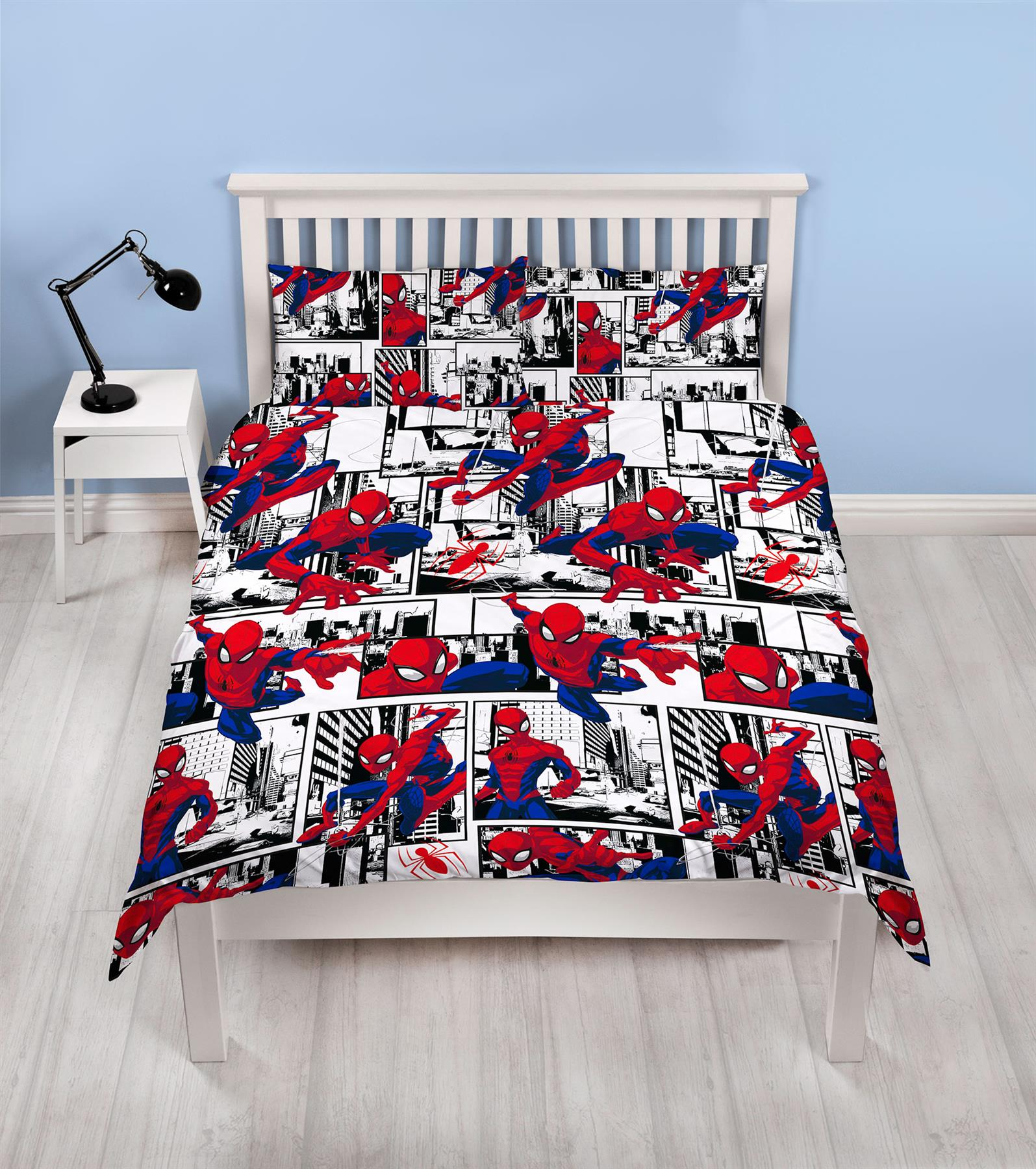 Official-Marvel-Spiderman-Licensed-Duvet-Covers-Single-Double-Far-From-Home thumbnail 9
