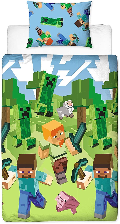 miniatura 70 - Minecraft Biancheria da letto Creeper PIUMONI Asciugamano Cuscino Coperta-venduta separatamente
