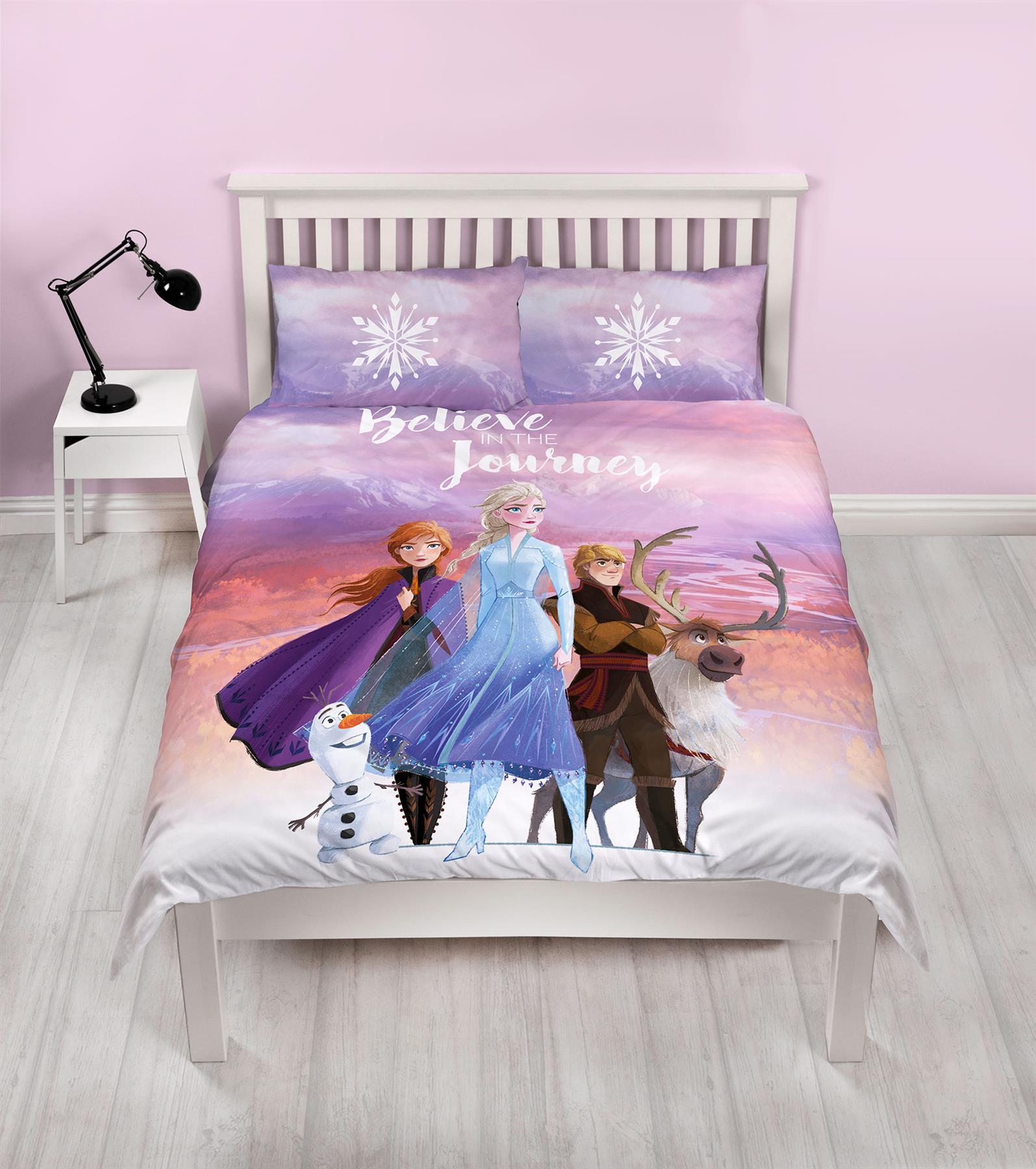 Official-Frozen-2-Duvet-Covers-Single-Double-Reversible-Bedding-Elsa-Anna-Olaf thumbnail 8