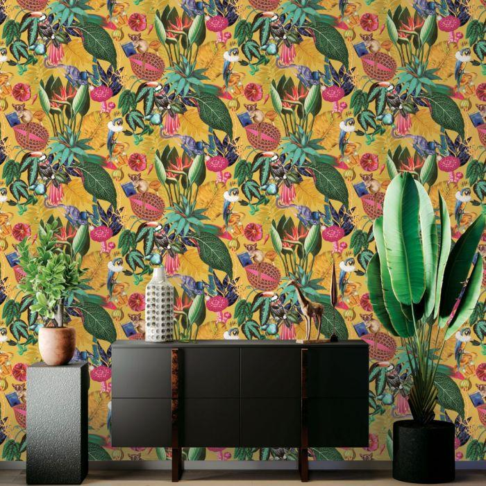 Fine-Holden-Decor-Congo-Tropical-Rainforest-Wallpaper-Assorted-Colours thumbnail 18