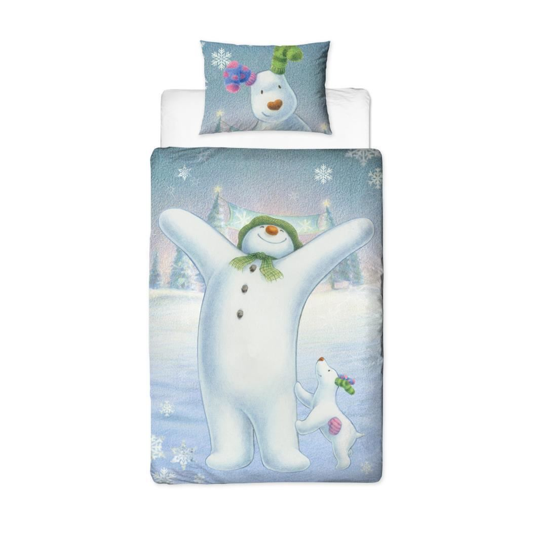 Official-The-Snowman-Duvet-Cover-Single-Double-Reversible-Bedding-Fleece-Blanket thumbnail 4
