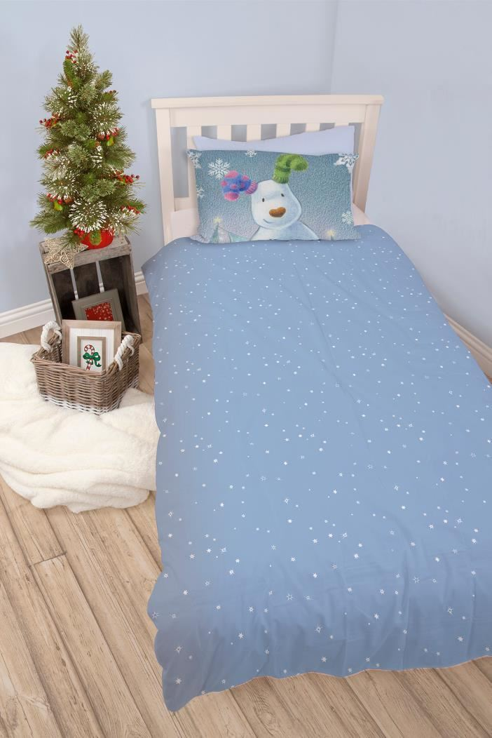 Official-The-Snowman-Duvet-Cover-Single-Double-Reversible-Bedding-Fleece-Blanket thumbnail 3