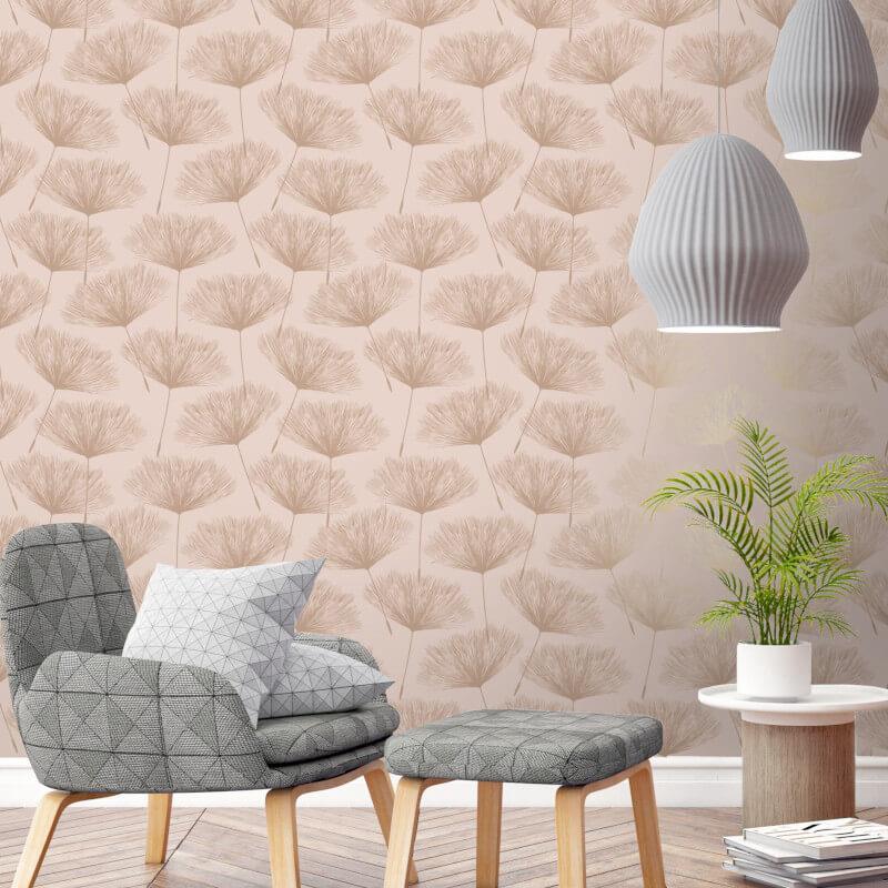 Holden-Decor-Grey-Glistening-Metallic-Fleur-Dandelion-Flower-Wallpaper-10m thumbnail 5