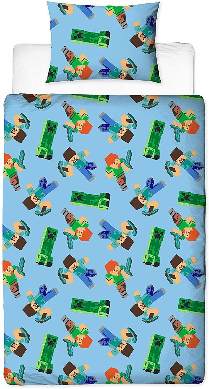 miniatura 71 - Minecraft Biancheria da letto Creeper PIUMONI Asciugamano Cuscino Coperta-venduta separatamente