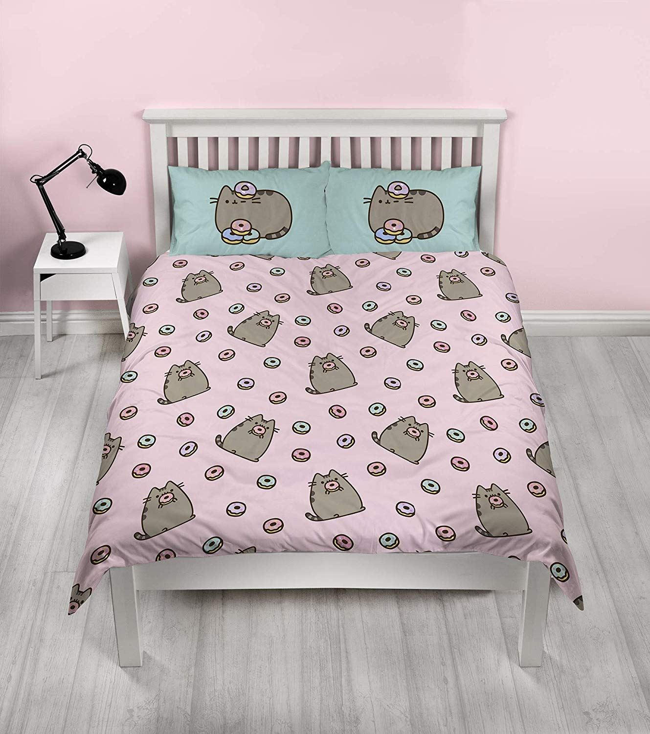 Pusheen-Doughnut-Single-Double-Reversible-Duvet-Cover-Bedding-Set thumbnail 3