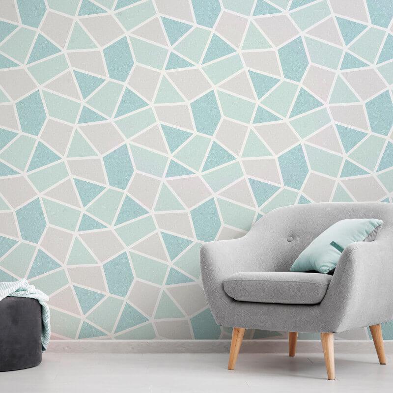 Geometric-Wallpaper-Metallic-Smooth-Textured-Apex-Triangles-Trellis-Diamonds thumbnail 53