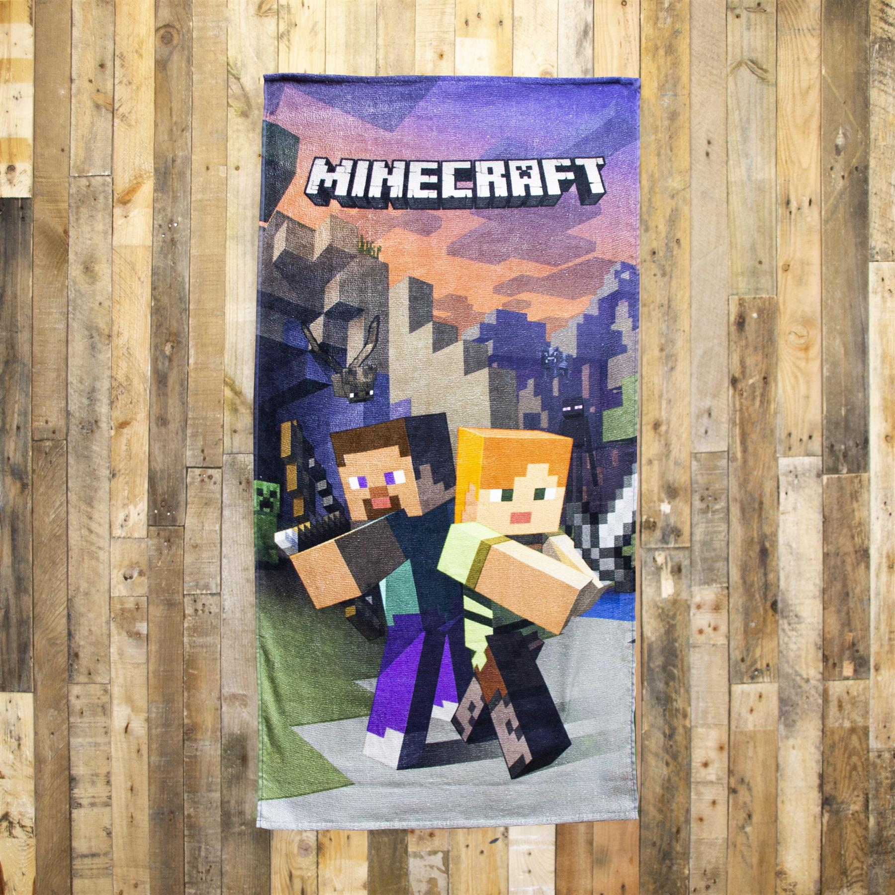 miniatura 52 - Minecraft Biancheria da letto Creeper PIUMONI Asciugamano Cuscino Coperta-venduta separatamente
