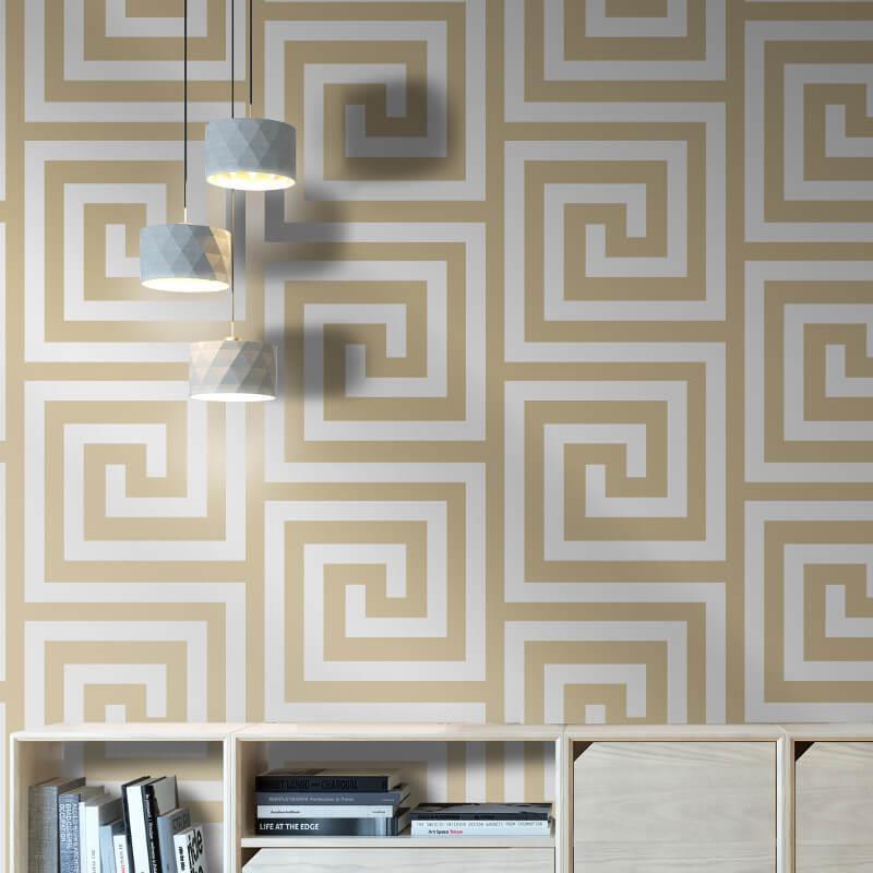 Debona-Athena-Greek-Key-Metallic-Glitter-Wallpaper-4-Colours thumbnail 7