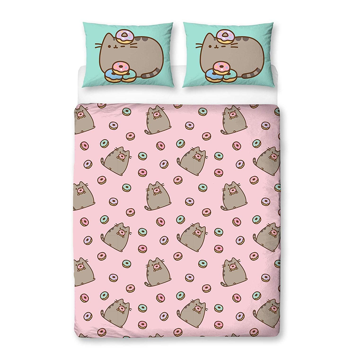 Pusheen-Doughnut-Single-Double-Reversible-Duvet-Cover-Bedding-Set thumbnail 6