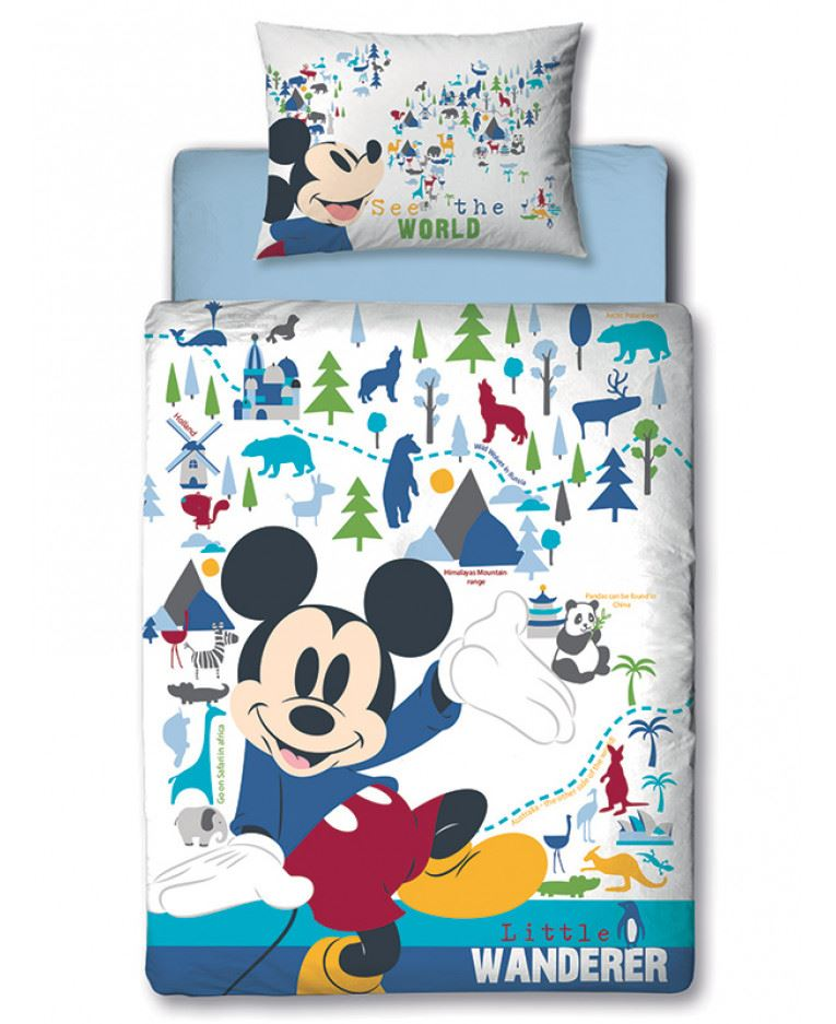Disney-Mickey-Minnie-mouse-fundas-nordicas-SINGLE-doble-Ropa-De-Cama-Reversible miniatura 13