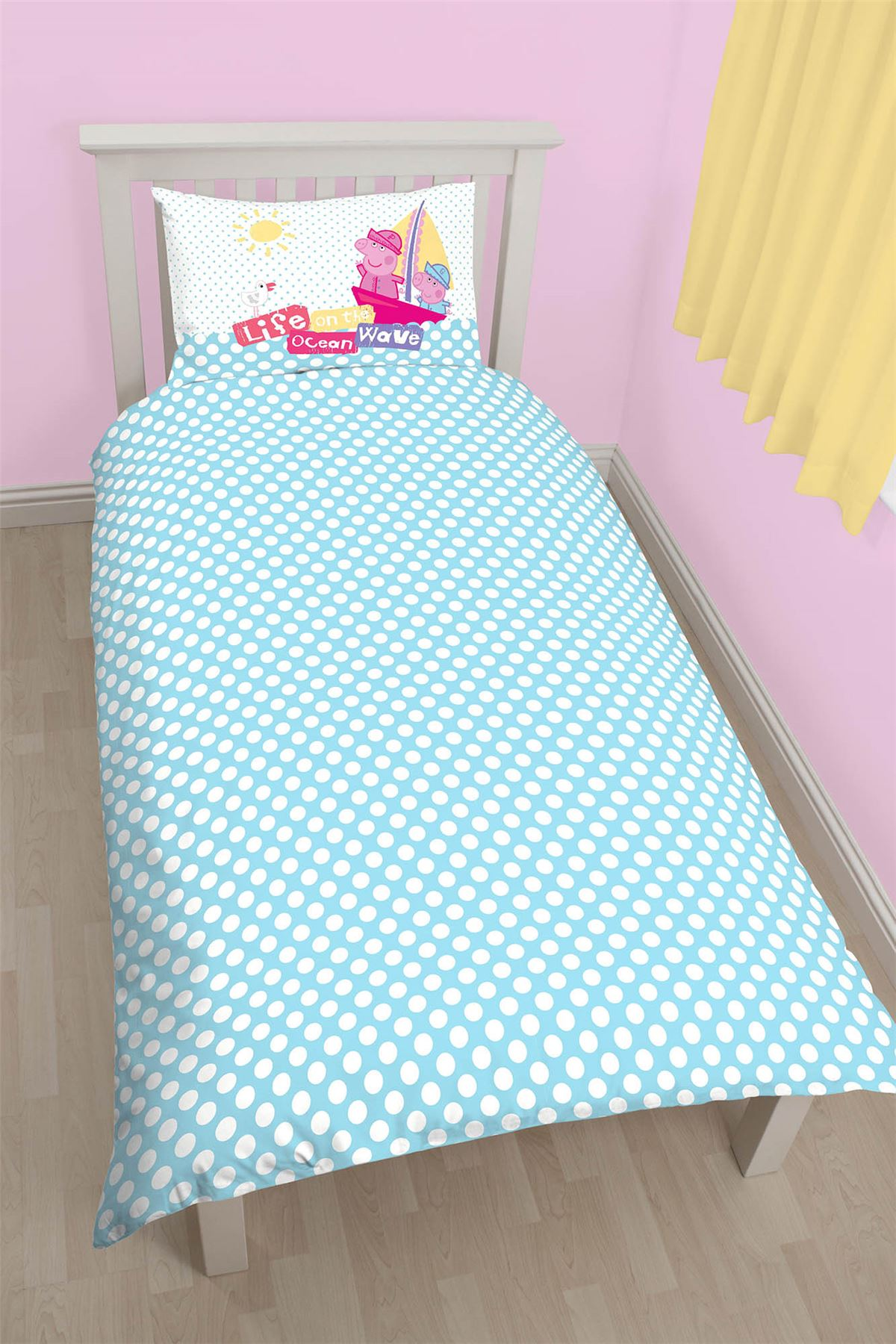 Oficial-Peppa-Pig-George-fundas-nordicas-SINGLE-doble-Ropa-De-Cama-Reversible miniatura 16